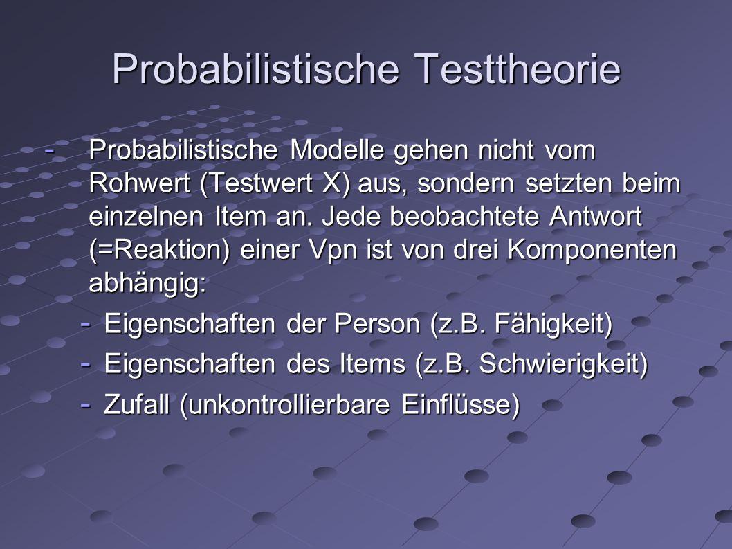 Probabilistische Testtheorie