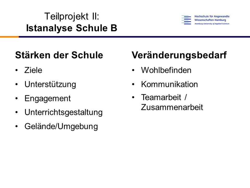 Teilprojekt II: Istanalyse Schule B