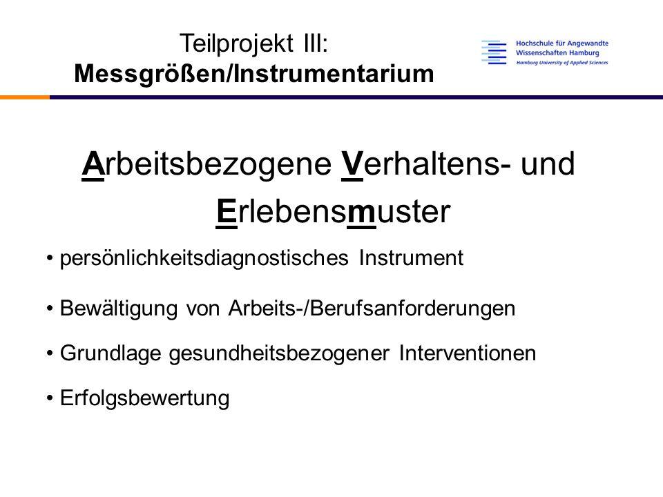 Messgrößen/Instrumentarium