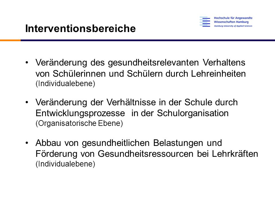 Interventionsbereiche