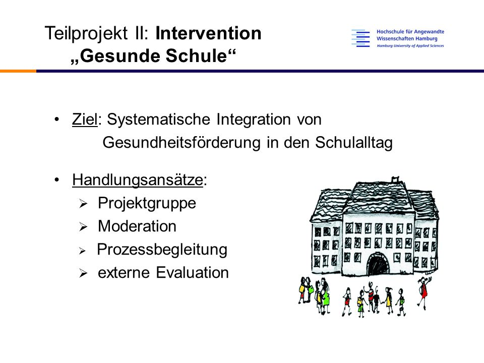"Teilprojekt II: Intervention ""Gesunde Schule"