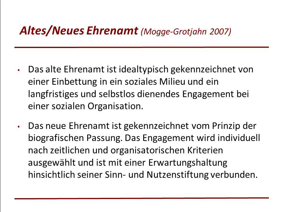 Altes/Neues Ehrenamt (Mogge-Grotjahn 2007)