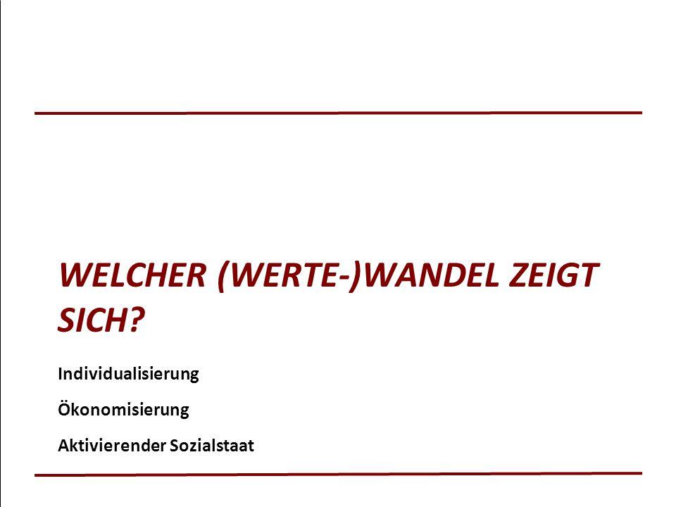 WELCHER (WERTE-)WANDEL ZEIGT SICH