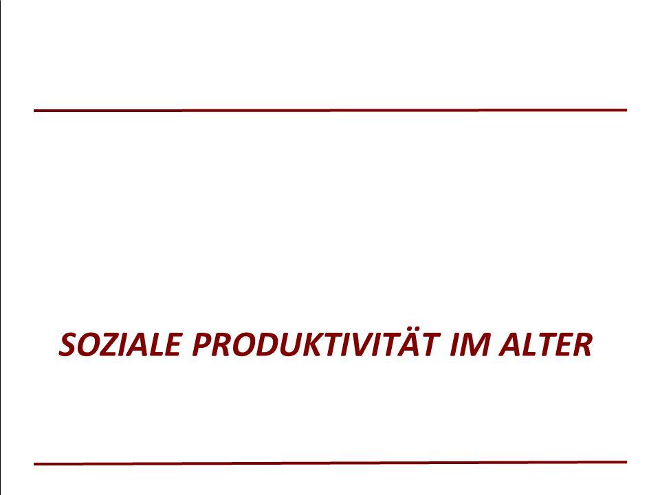 SOZIALE PRODUKTIVITÄT IM ALTER