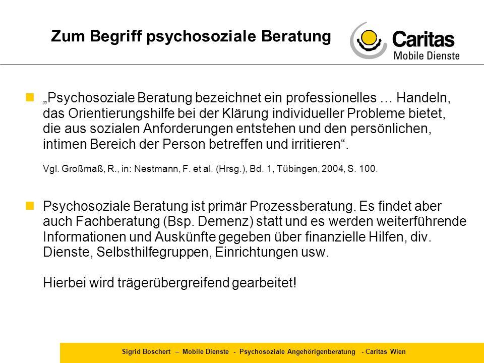 Zum Begriff psychosoziale Beratung