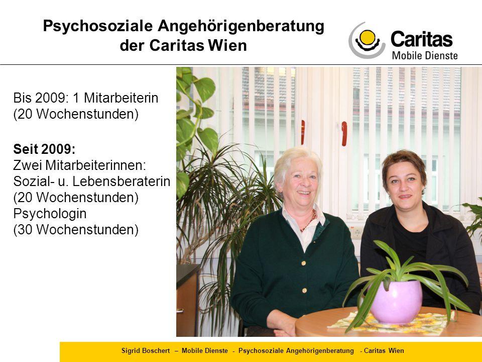 Psychosoziale Angehörigenberatung der Caritas Wien