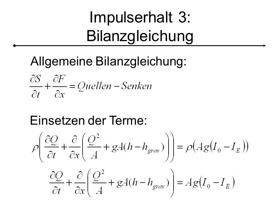 Impulserhalt 3: Bilanzgleichung