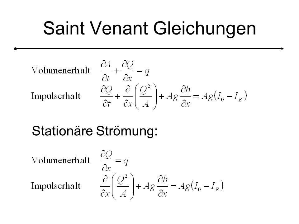 Saint Venant Gleichungen