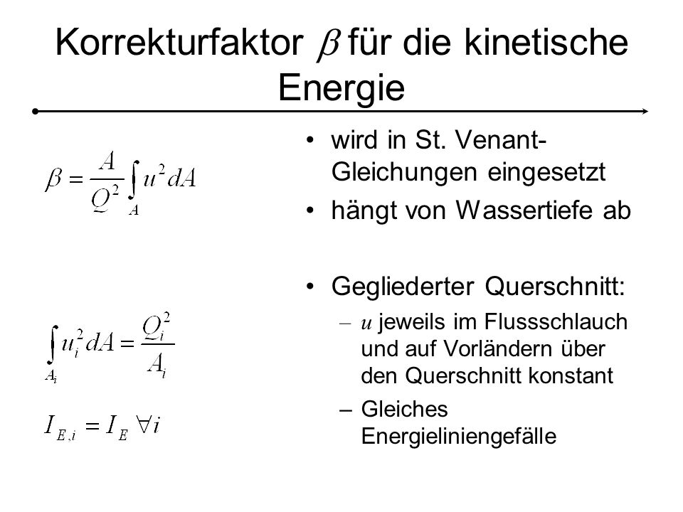Korrekturfaktor b für die kinetische Energie
