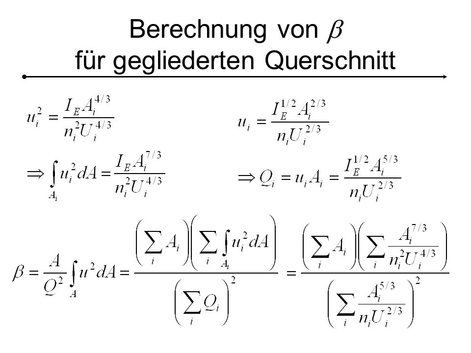 Berechnung von b für gegliederten Querschnitt