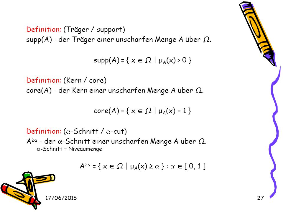 Definition: (Träger / support)