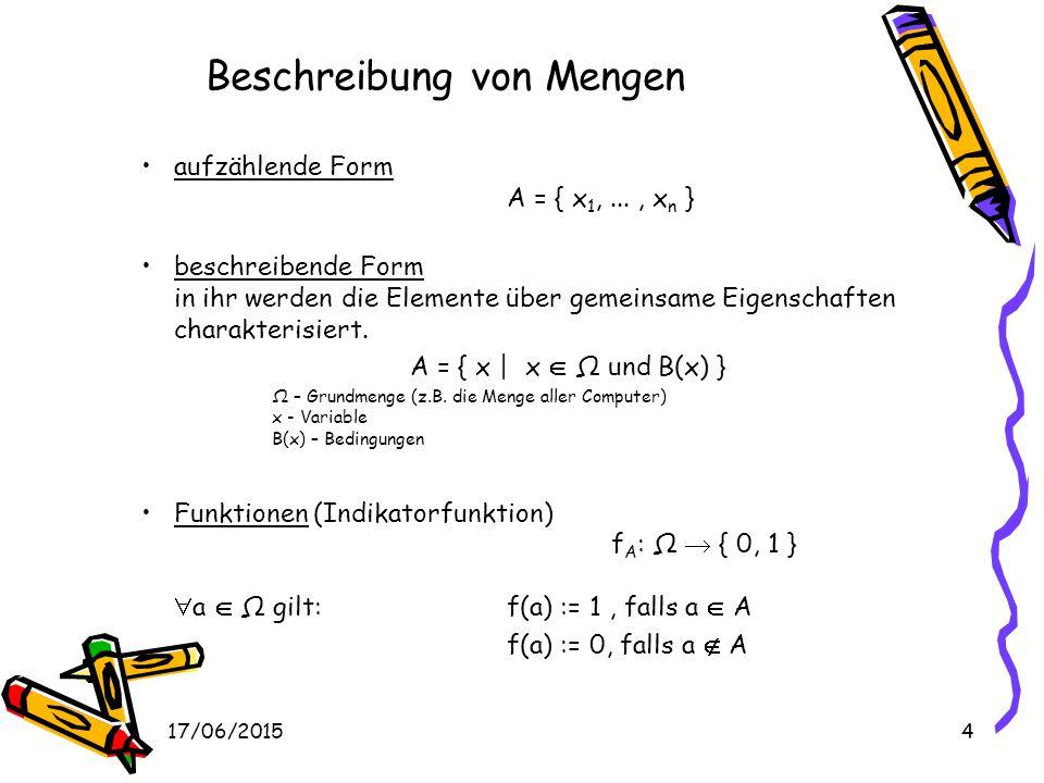 Beschreibung von Mengen