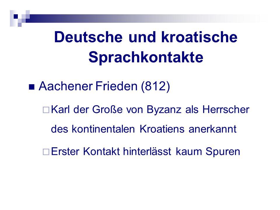 Deutsche und kroatische Sprachkontakte