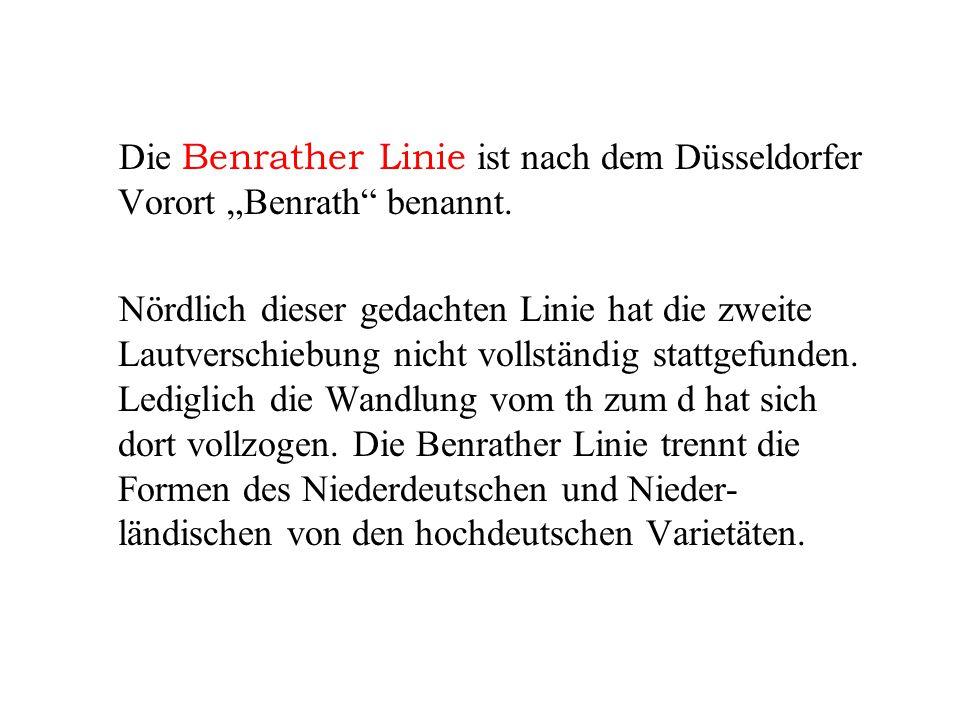 """Die Benrather Linie ist nach dem Düsseldorfer Vorort """"Benrath benannt."""