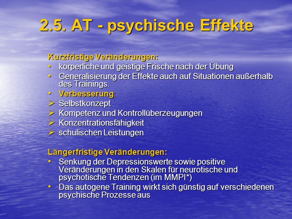 2.5. AT - psychische Effekte