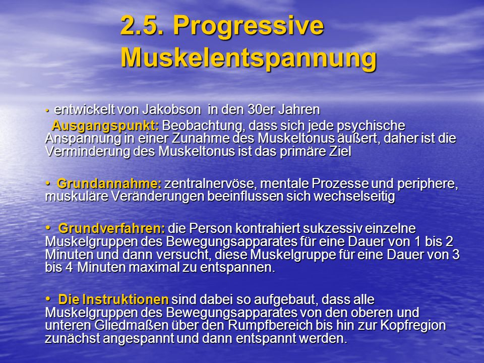 2.5. Progressive Muskelentspannung