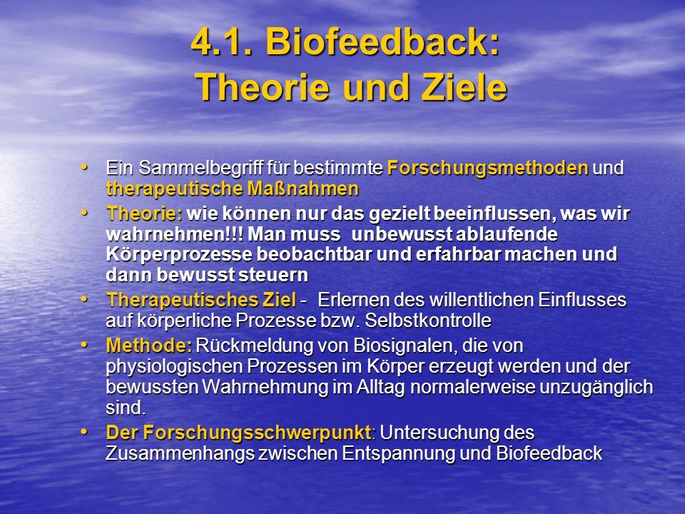 4.1. Biofeedback: Theorie und Ziele