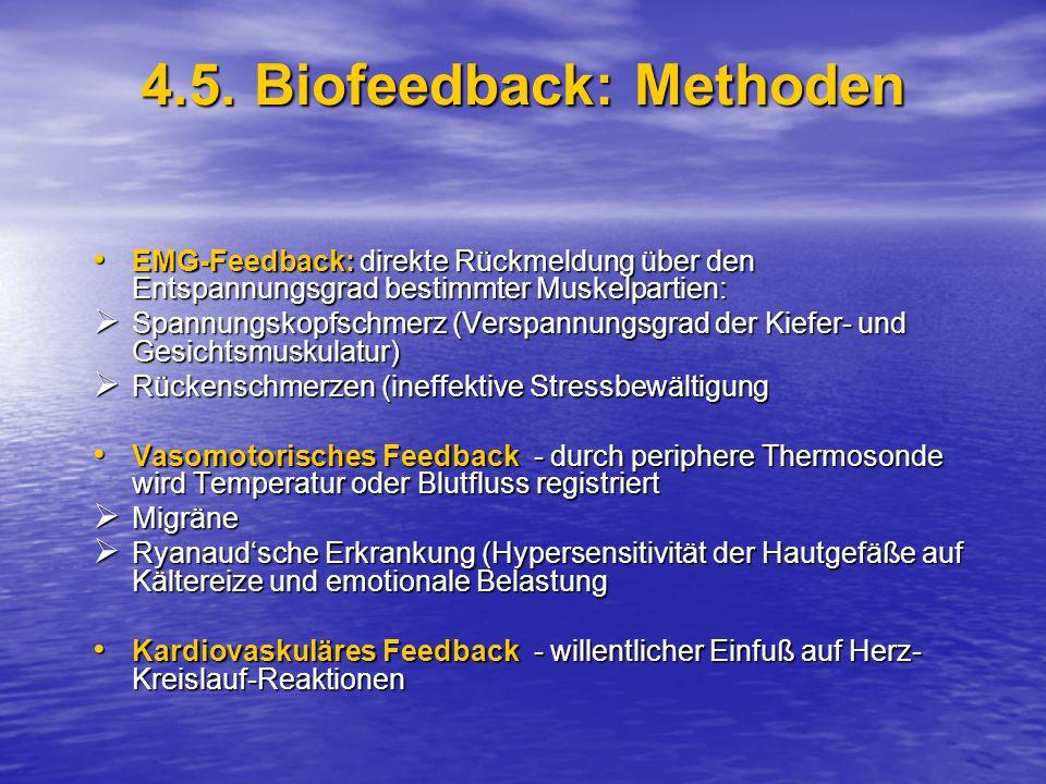 4.5. Biofeedback: Methoden