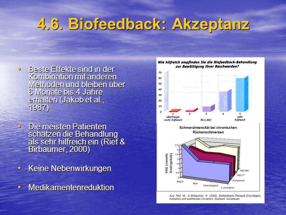4.6. Biofeedback: Akzeptanz