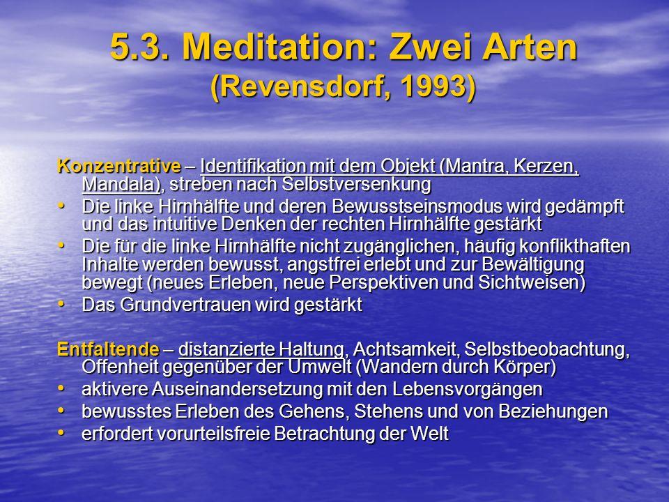5.3. Meditation: Zwei Arten (Revensdorf, 1993)