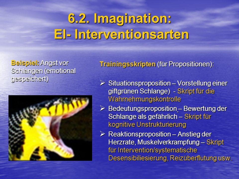 6.2. Imagination: EI- Interventionsarten