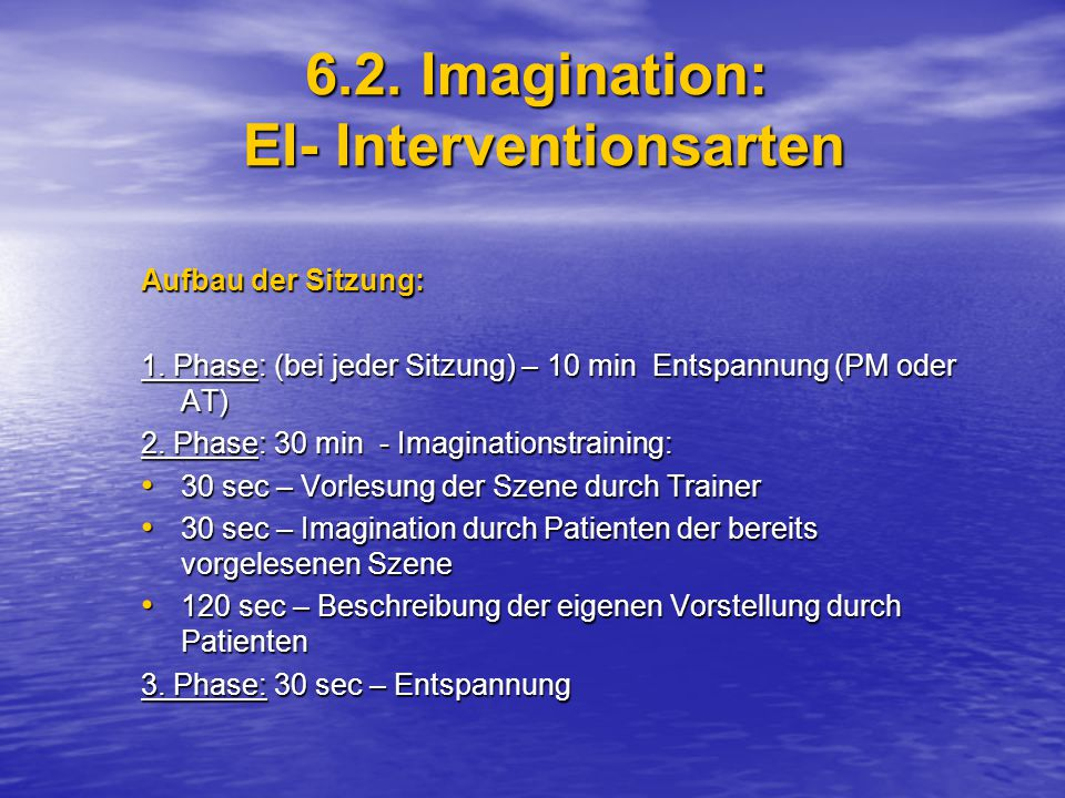 6.2. Imagination: EI- Interventionsarten