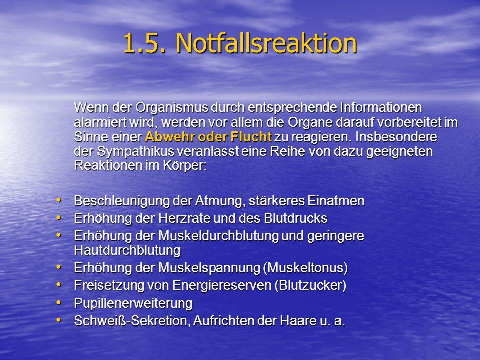 1.5. Notfallsreaktion