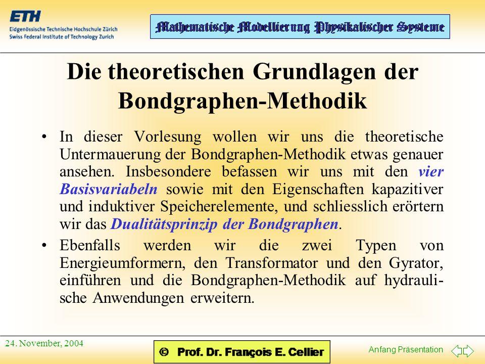 Die theoretischen Grundlagen der Bondgraphen-Methodik