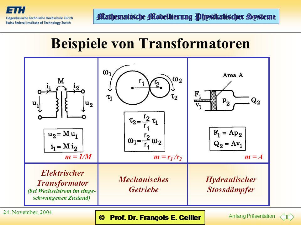 Beispiele von Transformatoren
