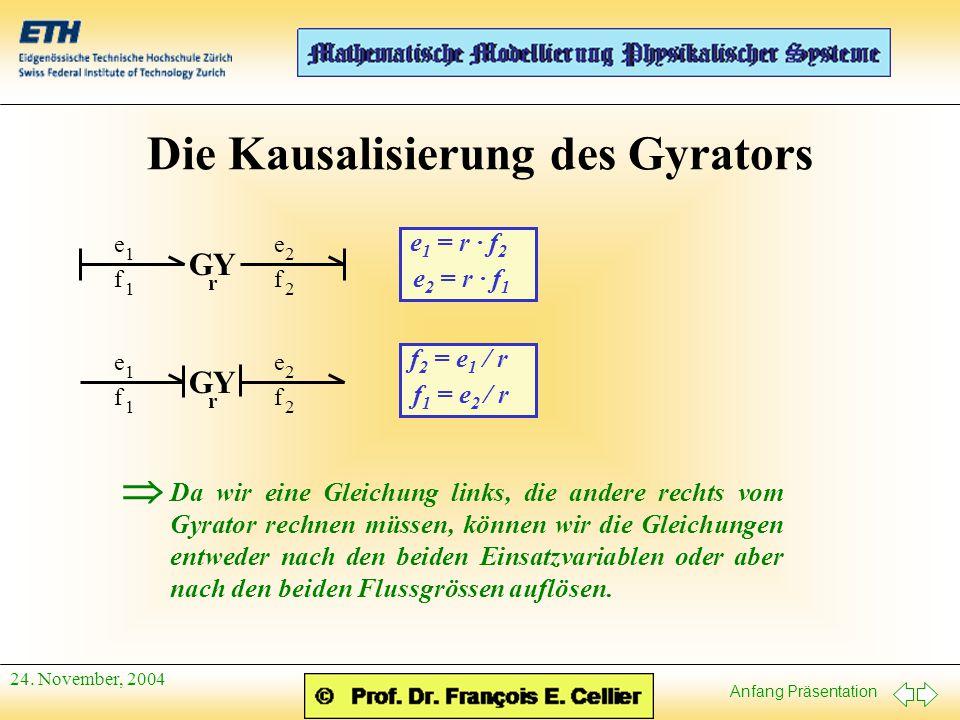 Die Kausalisierung des Gyrators