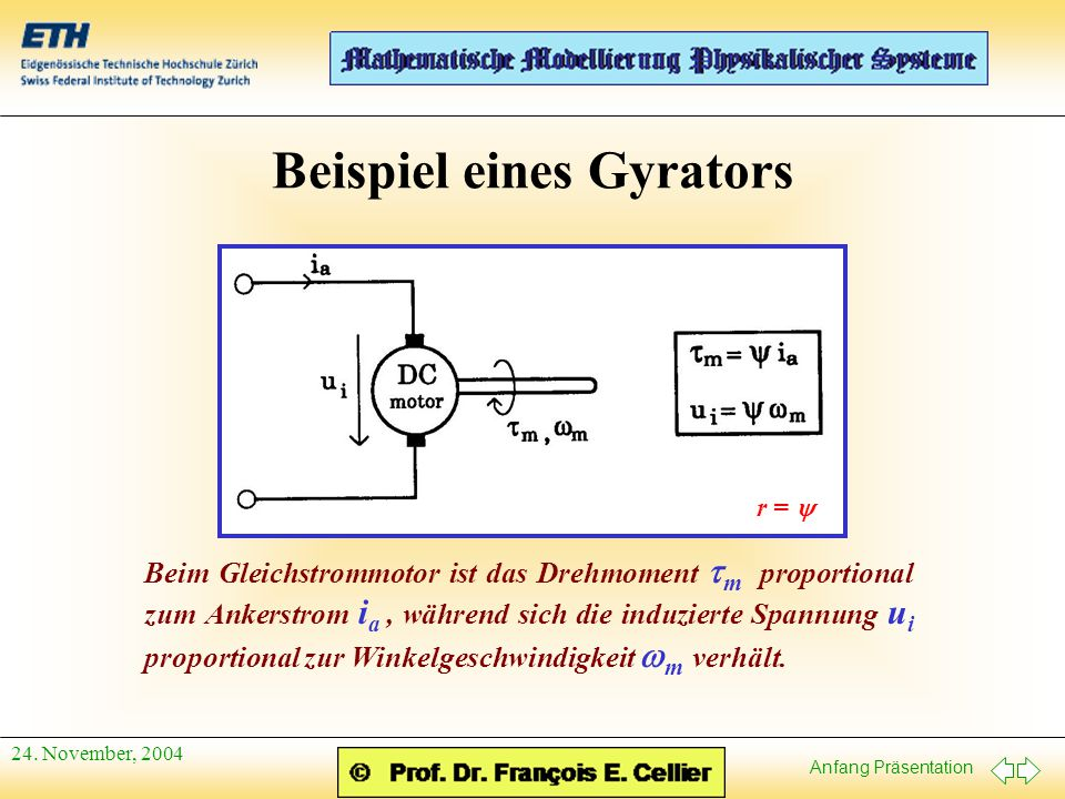 Beispiel eines Gyrators