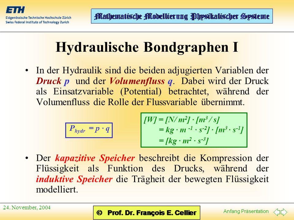 Hydraulische Bondgraphen I