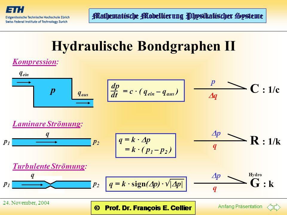Hydraulische Bondgraphen II