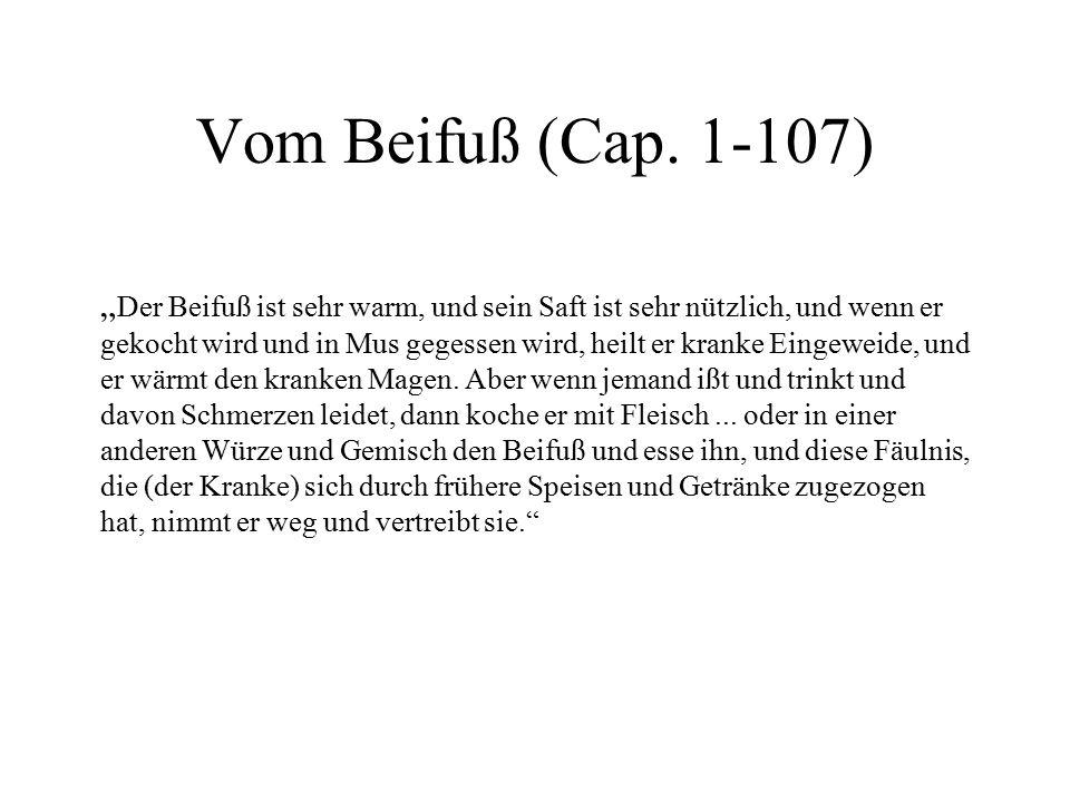 Vom Beifuß (Cap. 1-107)