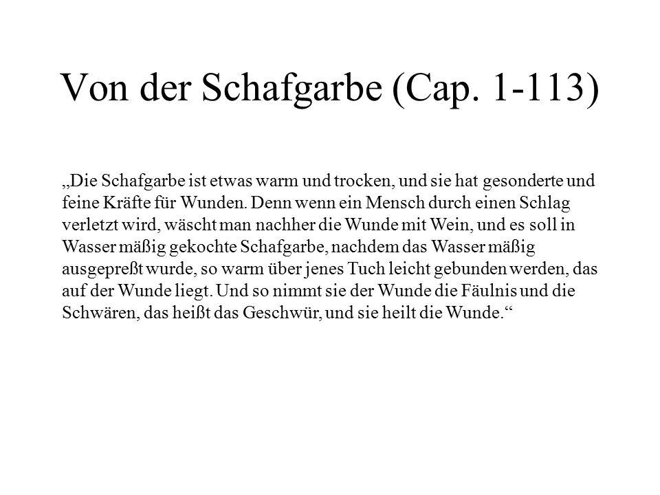 Von der Schafgarbe (Cap. 1-113)