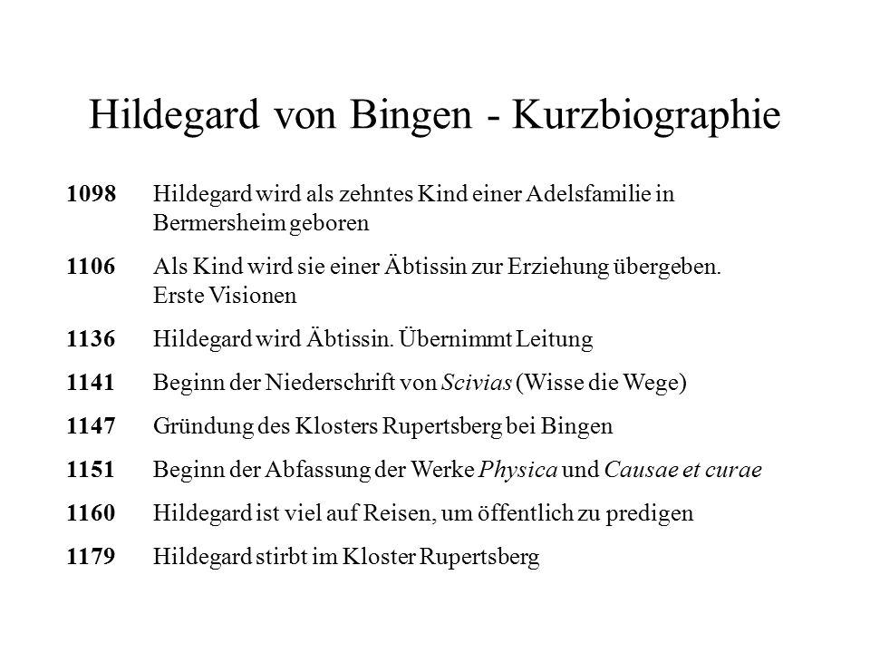 Hildegard von Bingen - Kurzbiographie