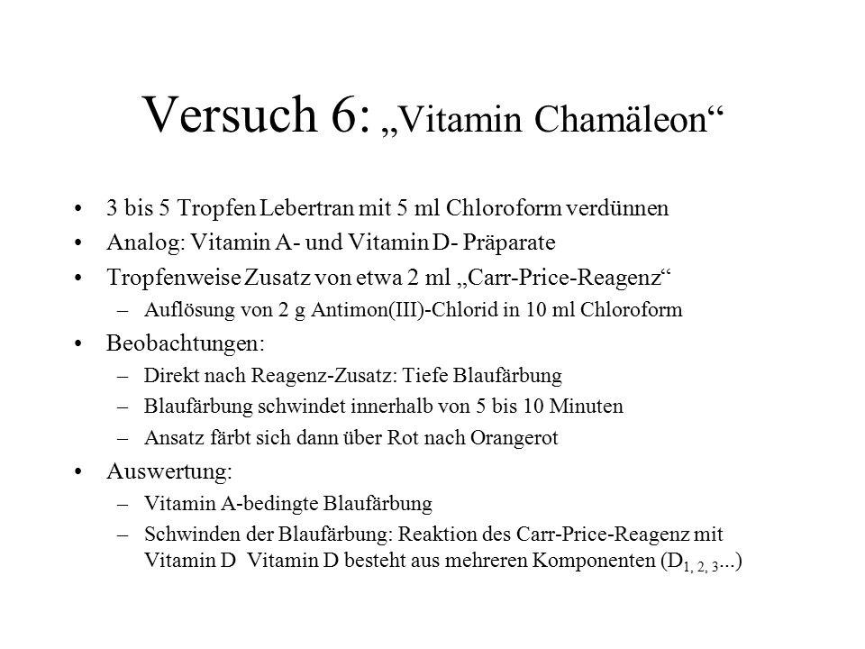 "Versuch 6: ""Vitamin Chamäleon"