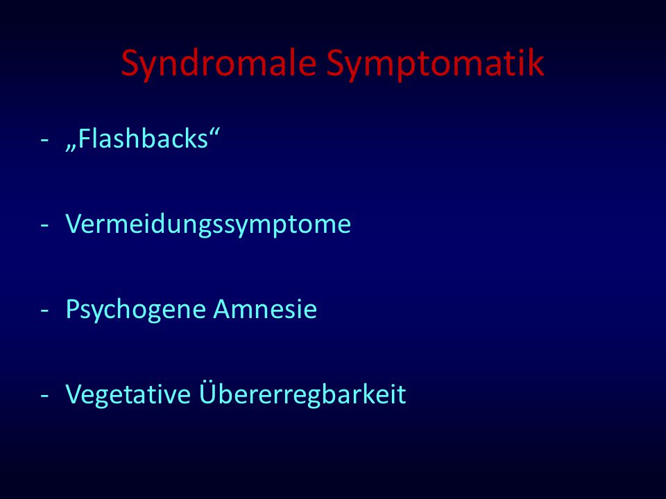 Syndromale Symptomatik