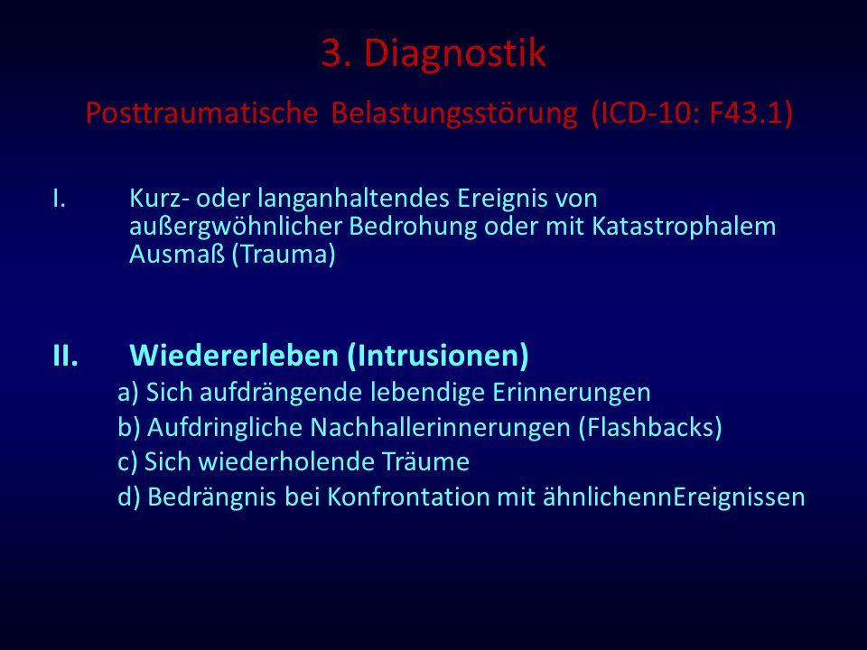 3. Diagnostik Posttraumatische Belastungsstörung (ICD-10: F43.1)