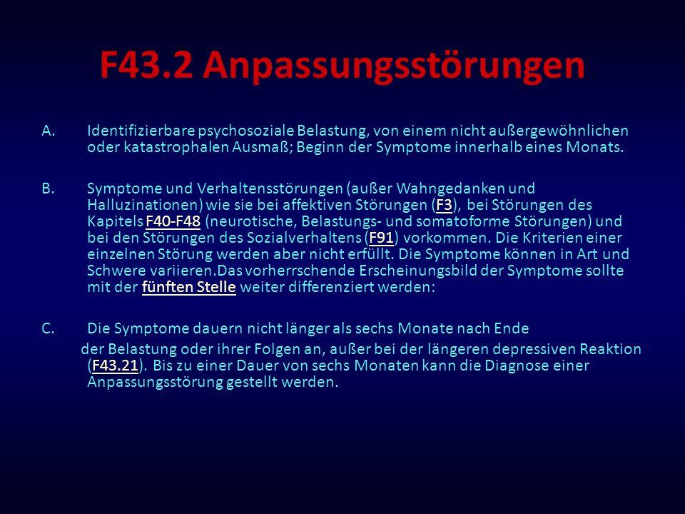 F43.2 Anpassungsstörungen