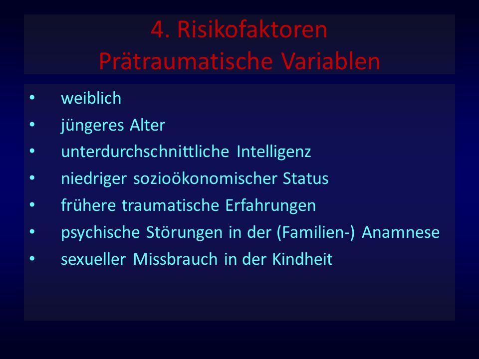 4. Risikofaktoren Prätraumatische Variablen