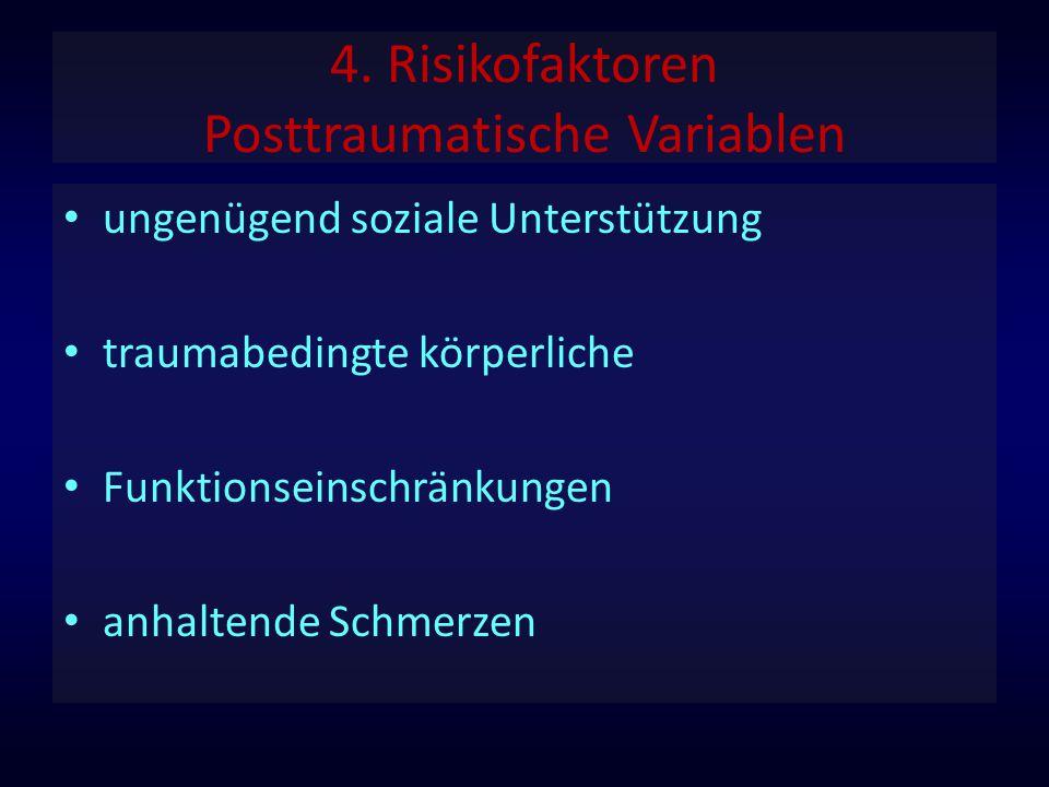 4. Risikofaktoren Posttraumatische Variablen