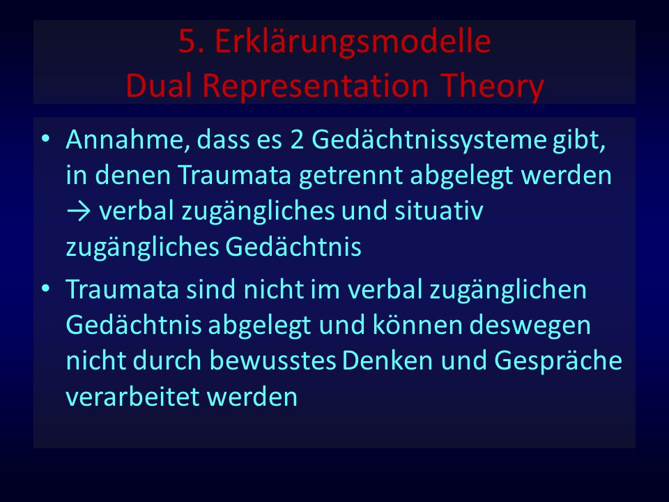 5. Erklärungsmodelle Dual Representation Theory