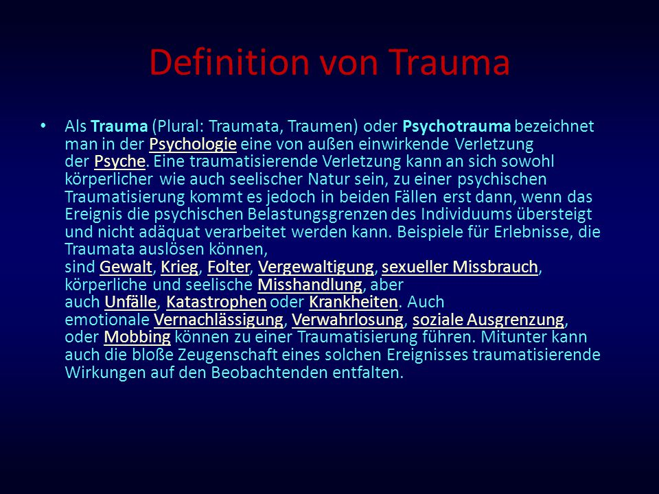 Definition von Trauma
