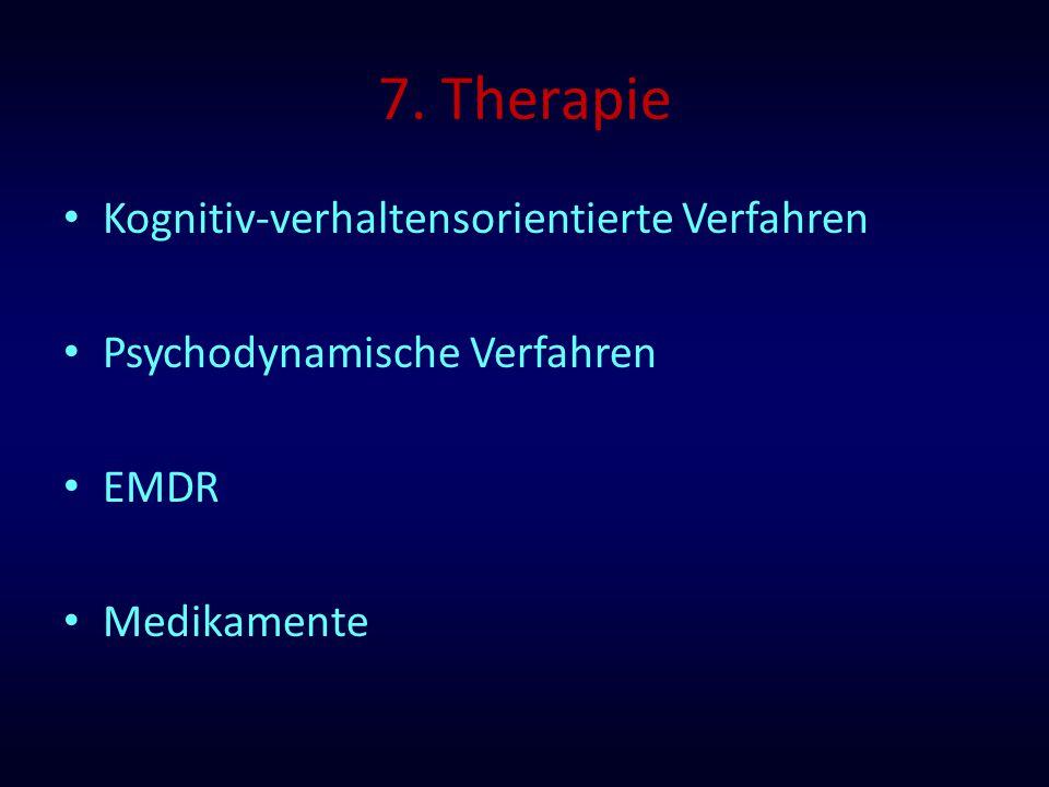 7. Therapie Kognitiv-verhaltensorientierte Verfahren
