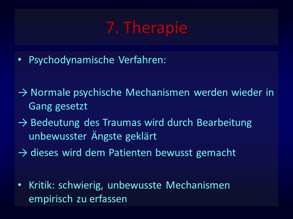 7. Therapie Psychodynamische Verfahren: