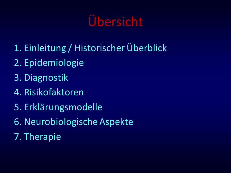 Übersicht 1. Einleitung / Historischer Überblick 2. Epidemiologie