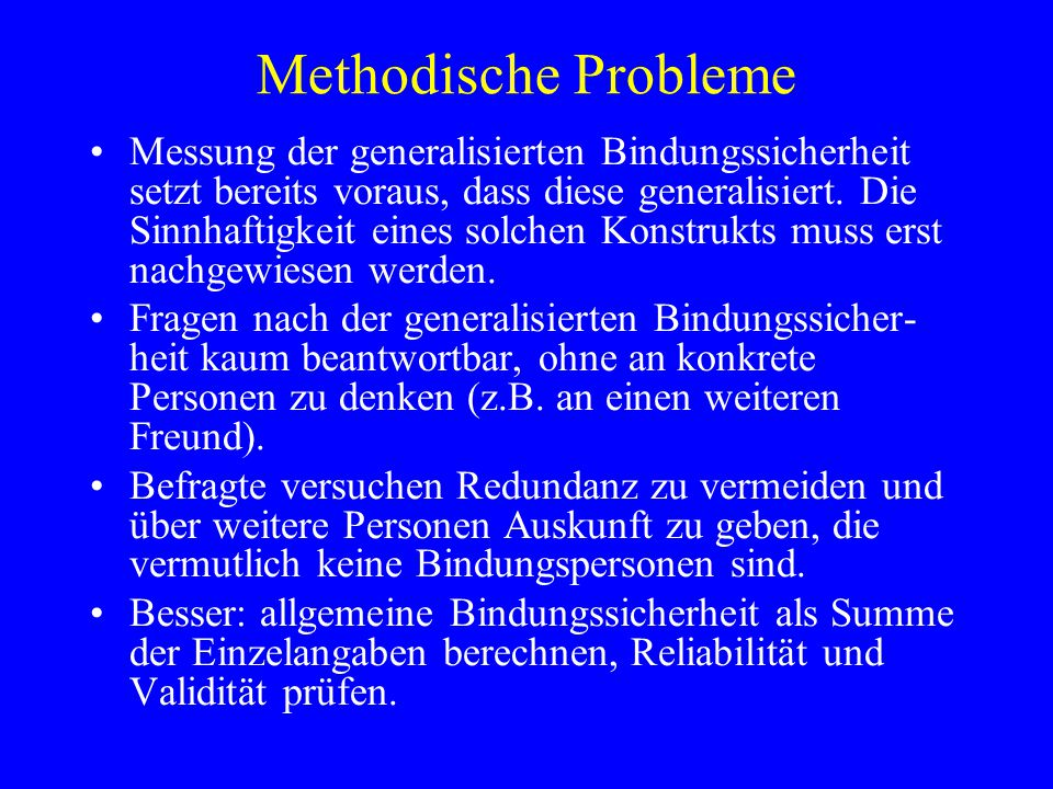 Methodische Probleme