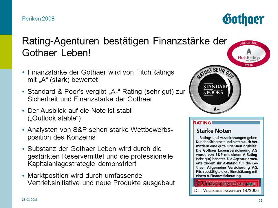 Rating-Agenturen bestätigen Finanzstärke der Gothaer Leben!
