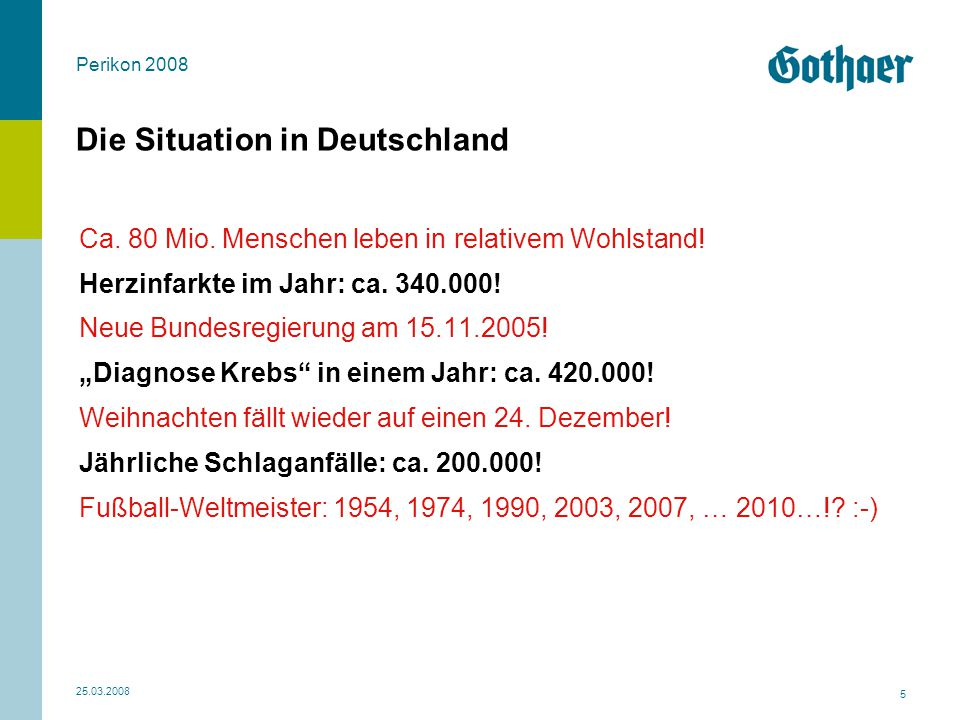 Die Situation in Deutschland